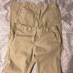Izod khaki girls school pants, size 14